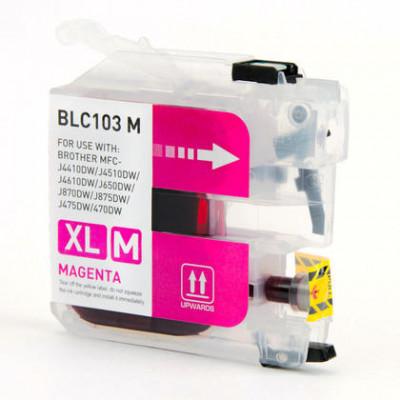 Brother LC103M cartouche d'encre compatible magenta haute capacité - 1/Paquet