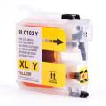 Brother LC103Y cartouche d'encre compatible jaune haute capacité - 1/Paquet