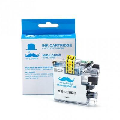 Brother LC203C cartouche d'encre compatible cyan haute capacité - Moustache® - 1/Paquet