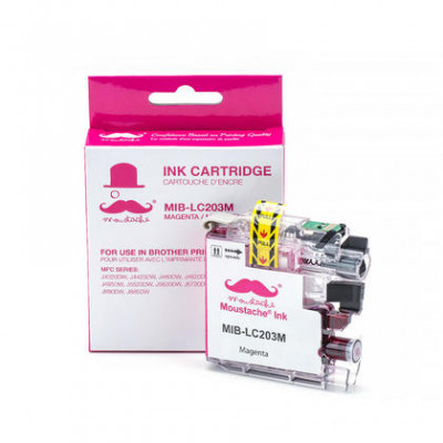 Brother LC203M cartouche d'encre compatible magenta haute capacité - Moustache® - 1/Paquet