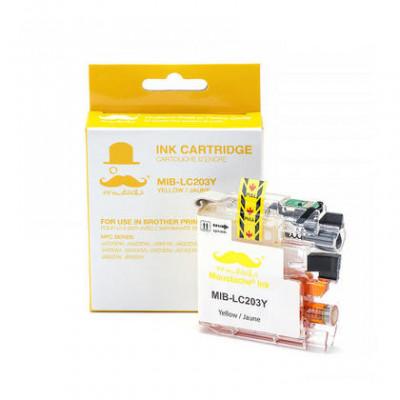 Brother LC203Y cartouche d'encre compatible jaune haute capacité - Moustache® - 1/Paquet