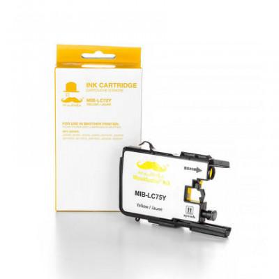 Brother LC75Y Cartouche d'Encre Compatible Jaune Haute Capacité - Moustache® - 1/paquet
