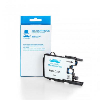 Brother LC75C cartouche d'encre compatible cyan haute capacité - Moustache® - 1/paquet