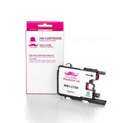 Brother LC75M cartouche d'encre compatible magenta haute capacité - Moustache® - 1/paquet