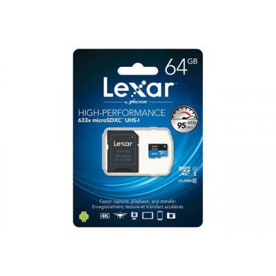 Lexar Carte micro SD 64Gb Haute Performance